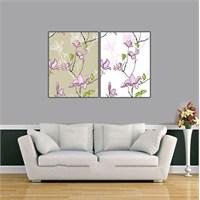 Ritmo-Mor Orkideler Kanvas Tablo