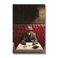 Ritmo-Fötr Şapkali Adam Kanvas Tablo