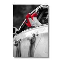 Ritmo-Kırmızı Pabuçlar Kanvas Tablo