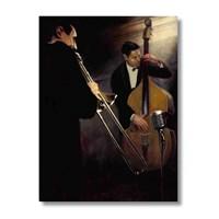 Ritmo-Jazz Müzik Yapan Adamlar Kanvas Tablo