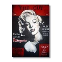 Ritmo-Marilyn Monroe Kırmızı Kanvas Tablo