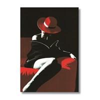 Ritmo-Kırmızılar Içindeki Kadin Kanvas Tablo