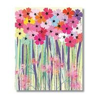 Ritmo-Renklı Çıçekler Kanvas Tablo
