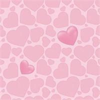 Golden Kids Kalp Desenli Çocuk Odası Duvar Kağıdı