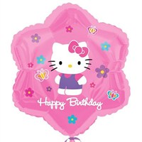 Pandoli 45 Cm Folyo Balon Hello Kitty Flowers Ve Butterflies