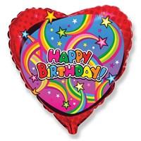Pandoli 45 Cm Folyo Balon Kalp Birthday Stars