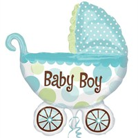 Pandoli Supershape Folyo Baby Buggy Boy Balon
