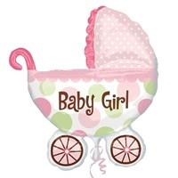 Pandoli Supershape Folyo Baby Buggy Girl Balon