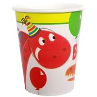 Pandoli Dino Birthday Bardak 8 Ad