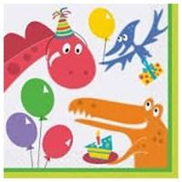 Pandoli Dino Birthday Kağıt Peçete 33X33cm 16 Ad