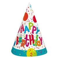 Pandoli Birthday Jamboree Külah Şapka 8 Adet
