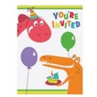 Pandoli Dino Birthday Davetiye 8 Adet