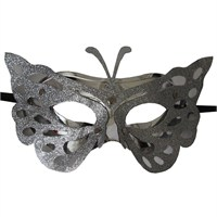 Pandoli Gümüş Renk Kelebek Maske