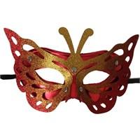 Pandoli Kırmızı Sarı Renk Kelebek Maske
