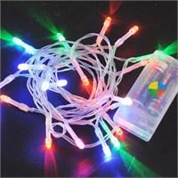 Pandoli Beyaz Kablolu 3 Metre Karışık Renk Pilli Led Işık