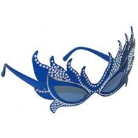 Pandoli Mavi Renk Taşlı Parti Gözlük