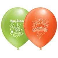 Pandoli 10 Lu Happy Birthday Baskılı Renkli Balon