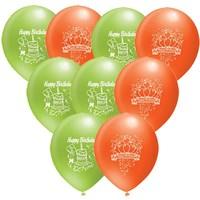 Pandoli 100 Lü Happy Birthday Baskılı Renkli Balon