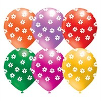 Pandoli 100 Lü Çepeçevre Pastel Baskılı Papatya Renkli Balon