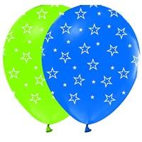 Pandoli 10 Adet Çepeçevre Yıldız Baskılı Latex Balon