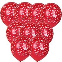 Pandoli 100 Adet Kalpler Baskılı Çepeçevre Latex Balon