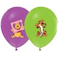 Pandoli 10 Lu Winnie Baskılı Renkli Balon Latex