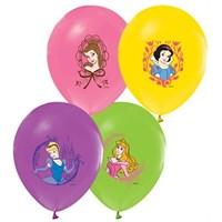 Pandoli 25 Li Prenses Baskılı Latex Renkli Balon