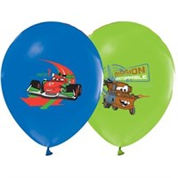 Pandoli 10 Adet The Cars Baskılı Latex Renkli Balon