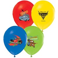 Pandoli 25 Adet The Cars Baskılı Latex Renkli Balon