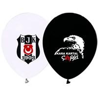 Pandoli 10 Adet Beşiktaş Baskılı Renk Latex Balon
