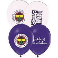Pandoli 25 Adet Fenerbahçe Baskılı Renk Latex Balon