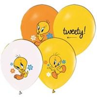 Pandoli 25 Li Tweety Baskılı Renkli Latex Balon