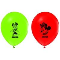 Pandoli 10 Lu Latex Minnie Mouse Baskılı Renkli Balon