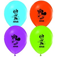 Pandoli 25 Li Latex Minnie Mouse Baskılı Renkli Balon