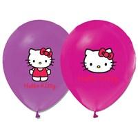 Pandoli 10 Adet Hello Kitty Baskılı Renkli Latex Balon