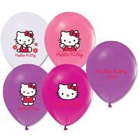 Pandoli 100 Adet Hello Kitty Baskılı Renkli Latex Balon