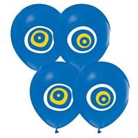 Pandoli 25 Li Açık Mavi Nazar Boncuğu Balon Latex