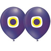 Pandoli 10 Adet Latex Nazar Boncuğu Mavi Renk Balon