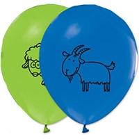 Pandoli 10 Lu Çiftlik Hayvanları Baskılı Latex Renkli Balon