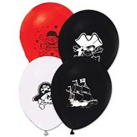 Pandoli 25 Adet Latex Korsan Baskılı Renkli Balon
