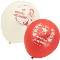 Pandoli 10 Lu Kınamıza Hoşgeldiniz Baskılı Latex Balon