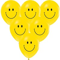 Pandoli 100 Lü Gülen Yüz Baskılı Smile Sarı Balon