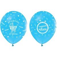Pandoli 10 Adet Mavi Hoşgeldin Oğlum Baskılı Latex Balon