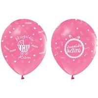 Pandoli 10 Adet Pembe Hoşgeldin Kızım Baskılı Latex Balon