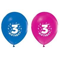 Pandoli 10 Adet 3 Yaş Happy Birthday Latex Renkli Balon