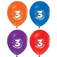 Pandoli 25 Adet 3 Yaş Happy Birthday Latex Renkli Balon