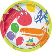 Pandoli Dino Birthday Tabak 23 Cm 8 Ad
