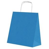 Pandoli 25 Adet Koyu Mavi Renk Kraft Kağıt Hediye Dağıtma Poşeti 22 Cm