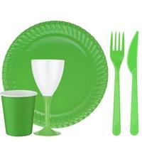 Pandoli 24 Kişilik Yeşil Renk 118 Parça Parti Sofra Seti