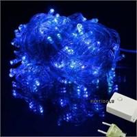 Pandoli Beyaz Kablolu 100 Ampüllü Led Işık Mavi Renk 10 Metre